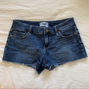 Paige brand cut off denim shorts